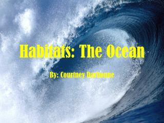 Habitats: The Ocean
