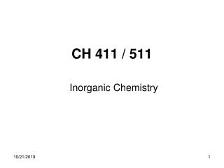 Organic Chemistry : Ch. 19