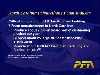 North Carolina Polyurethane Foam Industry