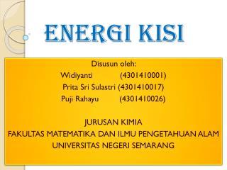 ENERGI KISI