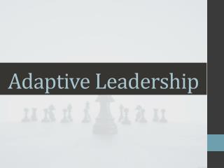 Adaptive Leadership