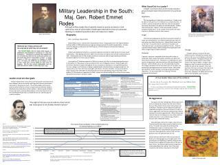 Military Leadership in the South:  Maj. Gen. Robert Emmet  Rodes