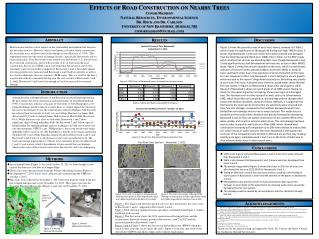 Effects of  Road Construction on Nearby Trees  Conor Madison