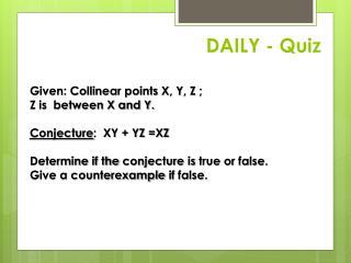 DAILY - Quiz