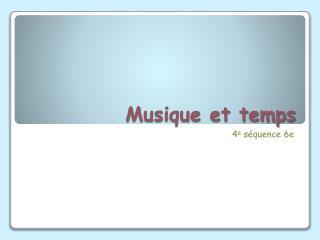 Musique et temps