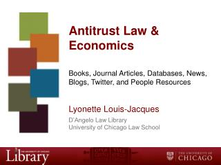 Antitrust Law & Economics