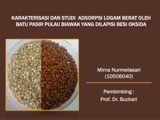 Mirna Nurmeilasari (10506040) Pembimbing :  Prof. Dr. Buchari