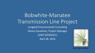 Bobwhite-Manatee Transmission Line Project