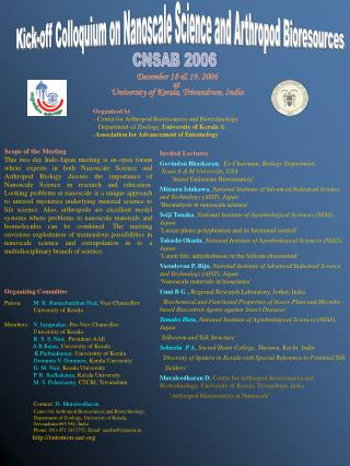 Organized by- Center for Arthropod Bioresources and Biotechnology   Department of Zoology