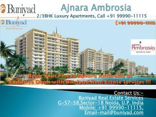 Ajnara Ambrosia Sector 118 Noida - Premium Residence