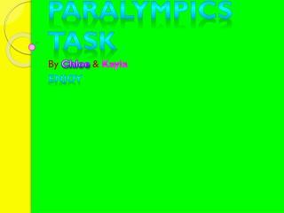 Paralympics Task