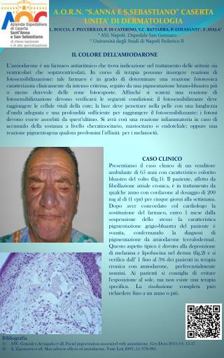 """A.O.R.N.  """" S.ANNA  E  S.SEBASTIANO """" CASERTA UNITA'  DI  DERMATOLOGIA"""