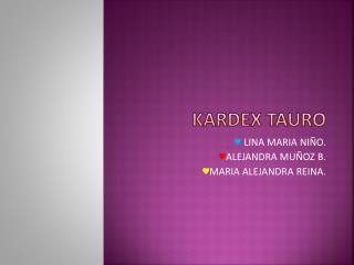 KARDEX TAURO