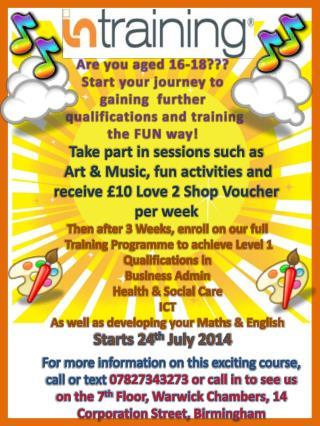 Are you aged 16-18??? Start your journey to gaining  further