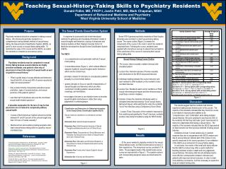 Teaching Sexual-History-Taking Skills to Psychiatry ResidentsDonald Fidler