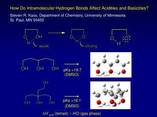 How Do Intramolecular Hydrogen Bonds Affect Acidities and Basicities?