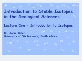 STABLE ISOTOPES Geochemistry