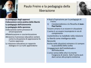 Paulo  Freire  e la pedagogia della liberazione