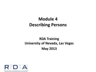 Module  4 Describing Persons