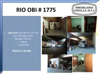 RIO OBI # 1775