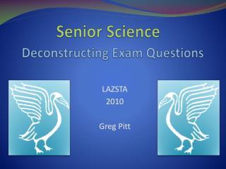 Deconstructing Exam Questions