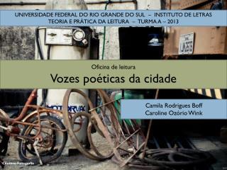 Oficina de leitura Vozes poéticas da cidade