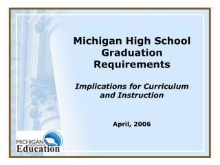 Michigan High School Graduation Requirements