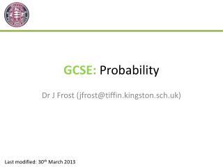 GCSE:  Probability