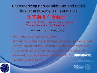 Characterizing non-equilibrium and radial flow at RHIC with  Tsallis  statistics