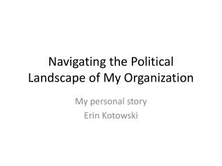 Navigating the Political Landscape of My Organization