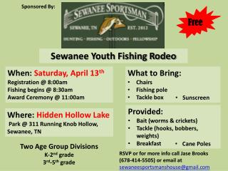 Sewanee Youth Fishing Rodeo