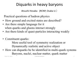 Diquarks  in heavy baryons