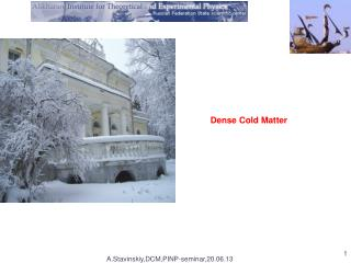 Dense Cold Matter