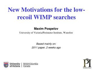 New Motivations for the low-recoil WIMP searches