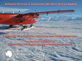 Antarctic Peninsula Automatic Weather Station Update