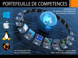 FAUGUET Loïc Étudiant en  Administration d es Systèmes et Réseaux