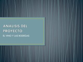 AN�LISIS DEL PROYECTO