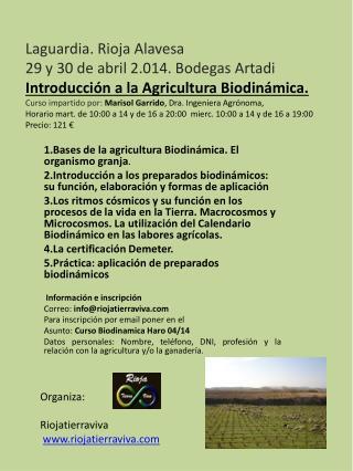 1.Bases  de la agricultura Biodinámica. El organismo granja .