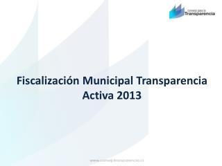 Fiscalización Municipal Transparencia Activa 2013