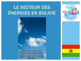 Le secteur des énergies en Bolivie