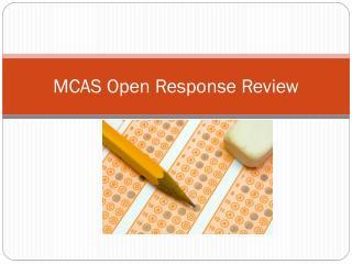 MCAS Open Response Review