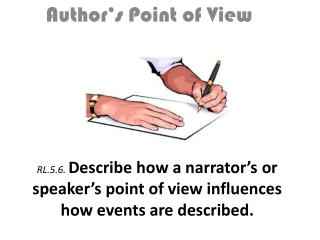 RL.5.6.  Describe how a narrator's or speaker's point of view influences how events are described.