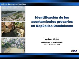 Identificación de los asentamientos precarios en República Dominicana