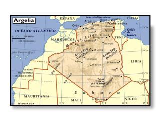 1.- Describe de manera general las características geográficas de Argelia: