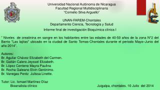 Universidad Nacional Autónoma de Nicaragua Facultad Regional Multidisciplinaria