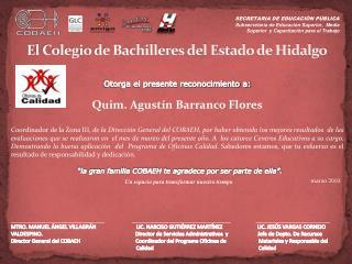 El Colegio de Bachilleres del Estado de Hidalgo