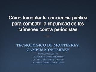 Cómo fomentar la conciencia pública para combatir la impunidad de los crímenes contra periodistas