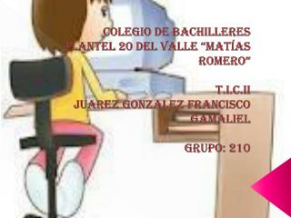 "Colegio de Bachilleres  Plantel 20 del valle ""Matías Romero"" T.I.C.II"