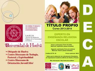 Obispado de Huelva Centro Diocesano de Teología, Pastoral y Espiritualidad
