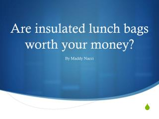 Are insulated lunch bags worth your money?
